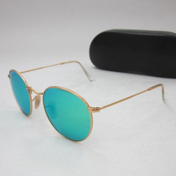 57ba1fc930 RayBan RB3447 112 P9 Round Sunglasses Italy OLL825.  M 5b50d3743e0caaec664a4333